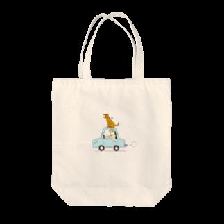s_uppo_nのぼくと犬と車 Tote bags