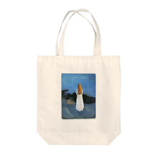 Art Baseのムンク / 1896 / Young woman on the shore / Edvard Munch Tote bags