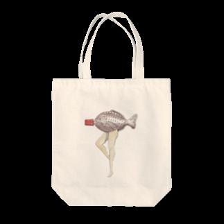 ジャックワンの醤油(魚) Tote bags