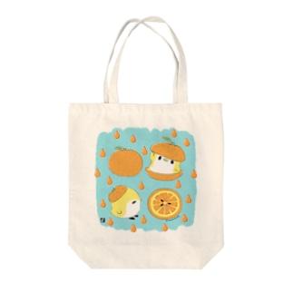 オレンジと ことり Tote bags