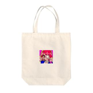 めんへらがーる1 Tote bags
