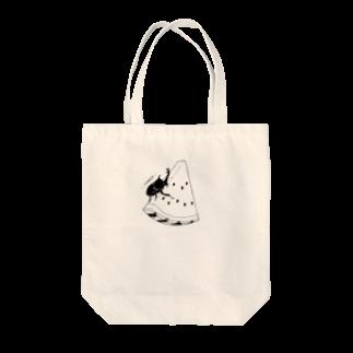 imimのsummerスイカブト白黒 Tote bags