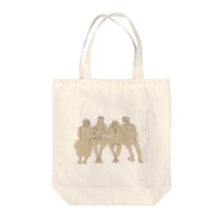 一徹明け Tote bags