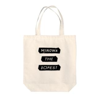 MINOWA THE DOPEST Tote bags