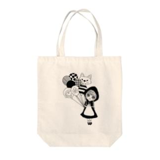 赤ずきんちゃんと風船 Tote bags