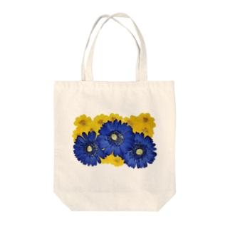 ホワイトブーケ ガーベラ Tote bags