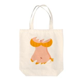 おっぱいTシャツ(みかん色) Tote bags