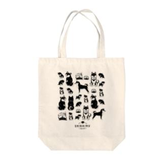 SHIBAINU-BLACK(黒柴) Tote bags