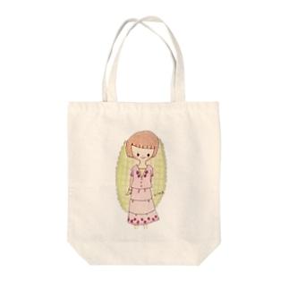おすましなおかっぱムスメちゃん Tote bags