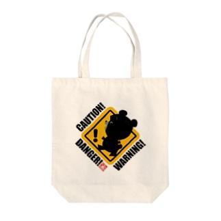 警告熊トートバッグ Tote bags