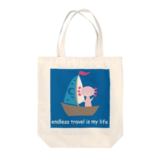 endless travel ウパロートルさん Tote bags