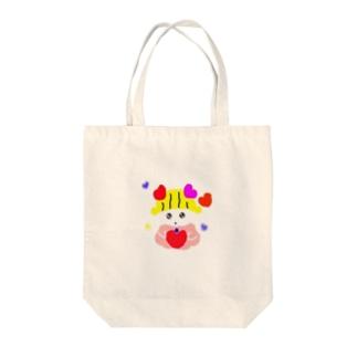 ぱこぱん Tote bags