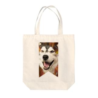 ハスキー タペストリー Tote bags