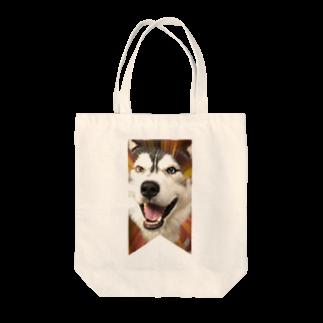Dream Dog World 【夢犬】のハスキー タペストリー Tote bags