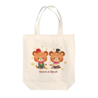 絵本のくま Tote bags