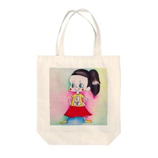 前髪ぱつこちゃん Tote bags
