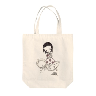 抜け殻 Tote bags