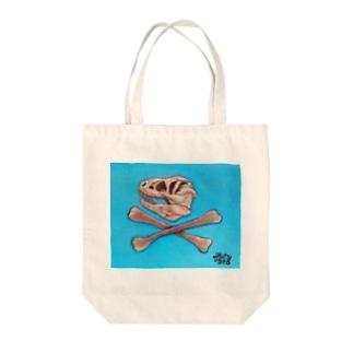 恐竜海賊旗 Tote bags