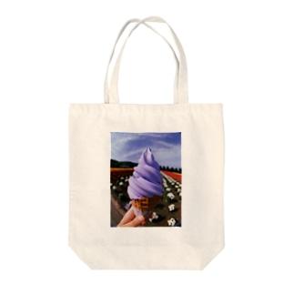 ソフトくりぃぃむ Tote bags