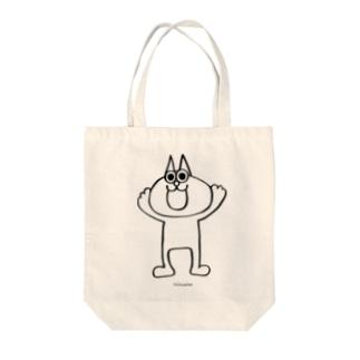 ネコのヤフーくん Tote bags