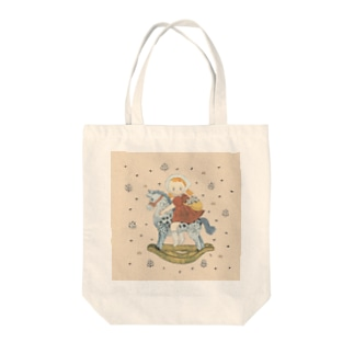 wooden horse Tote bags