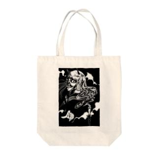 鬼女と蝋燭 Tote bags