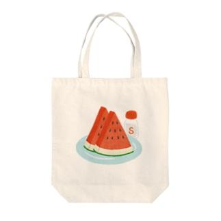 スイカに塩 Tote bags