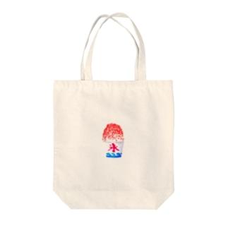 祭りのかき氷 Tote bags