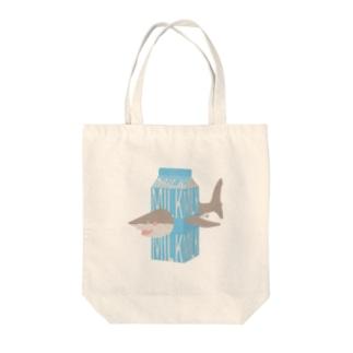 サメ ミルク Tote bags