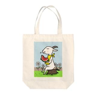山羊さんの夏休み Tote bags