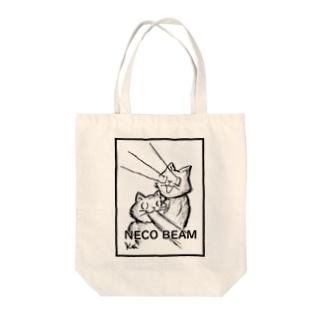 ねこビーム Tote bags