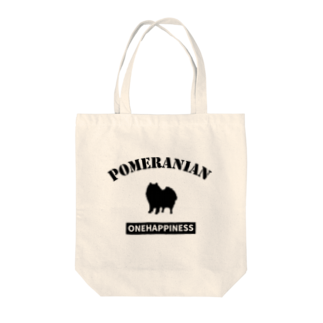 onehappinessのポメラニアン Tote bags