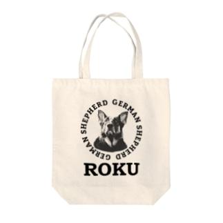 ロクくん Tote bags