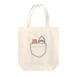 お供します!サメとメンダコ Tote bags