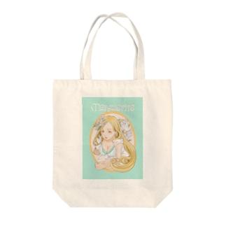 美女とマーガレット Tote bags
