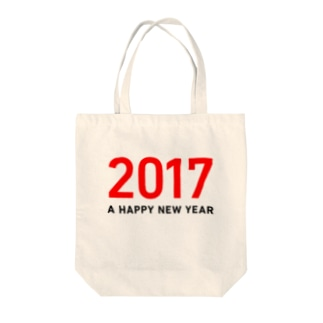 A Happy New Year 2017 Tote bags