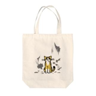 いたずらトラ猫 Tote bags