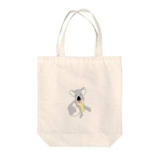 無表情コアラ Tote bags