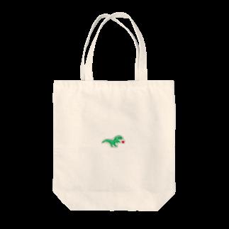 まみたろうグッズ販売店の恐竜くん Tote bags