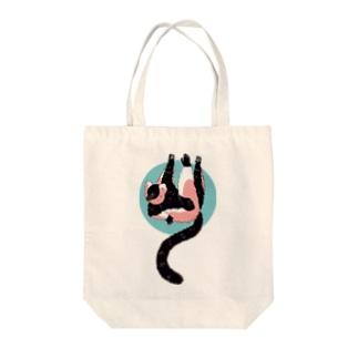 クロシロエリマキトート Tote bags