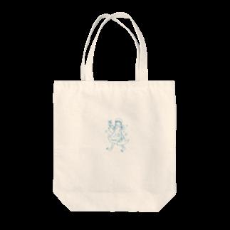 花紅の三つ編みガール Tote bags