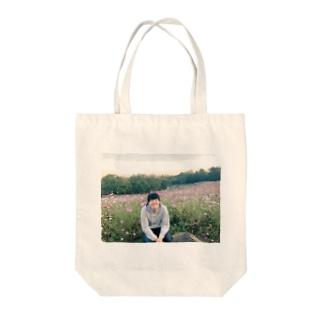 牛女しらすとお花畑 Tote bags