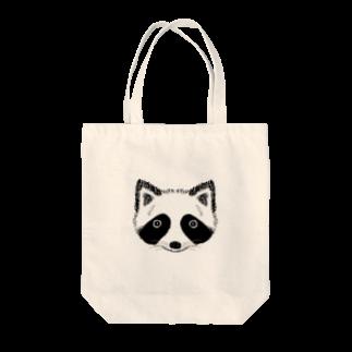 HINAGOROUのもふもふたぬき Tote bags