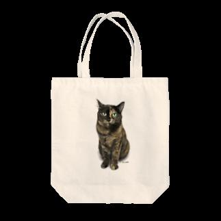 kinako-japanのサビ猫のキューちゃん 背景白 Tote bags