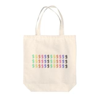 バク(色とりどり)3列 Tote bags