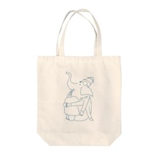 ものおもいガネーシャくん Tote bags