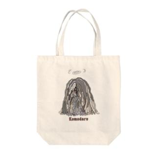 天使のかしこいプーリー犬 Tote bags