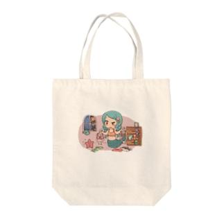 人魚姫ちゃん Tote bags