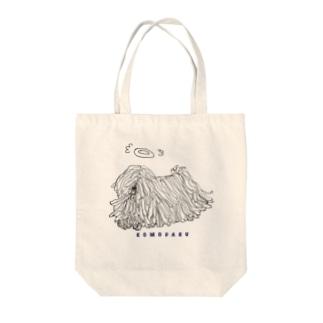 天使のかしこいプーリー犬 浮く。 Tote bags
