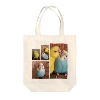 こはくとまちこ Tote bags